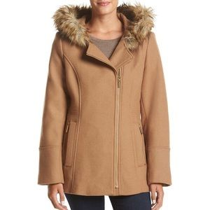 Michael Kors Wool Blend Tan Coat Women's Size 2